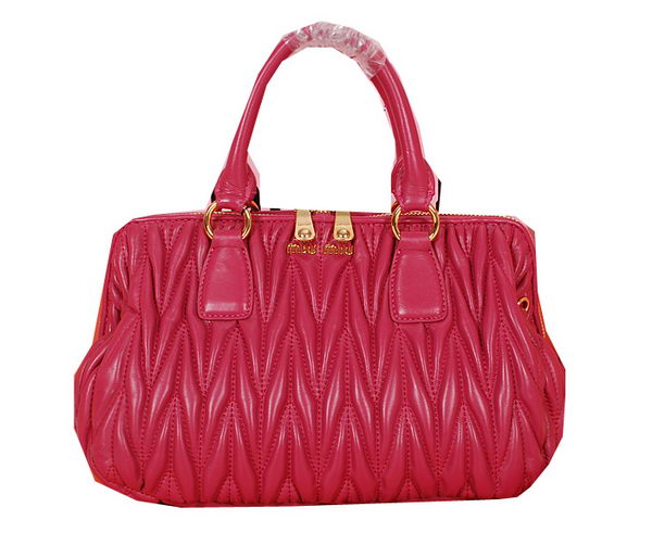 miu miu Matelasse Nappa Leather Top-handle Bag M88007 Rosy