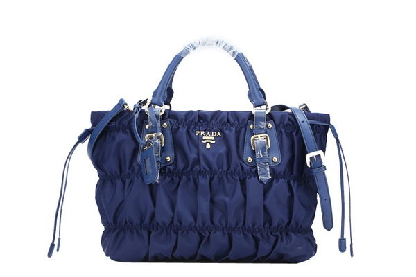 Prada Gaufre Nylon Tote Bag BN1788 - Royalblue