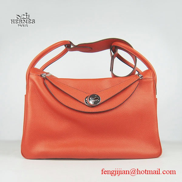 Hermes Women Shoulder Bag Orange 6208