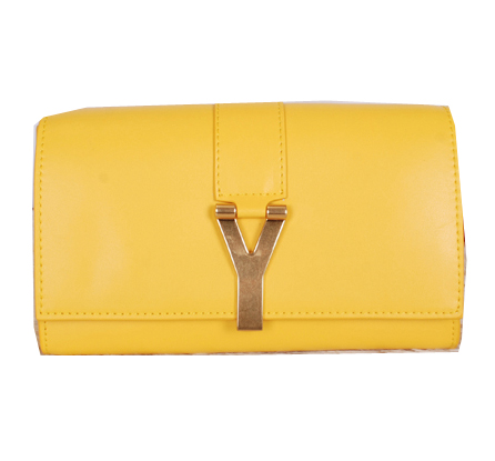 Yves Saint Laurent Chyc Travel Case Smooth Leather Y7141 Yellow