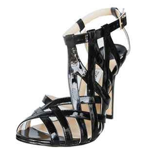 New Fashion Jimmy Choo leather Sandals Black