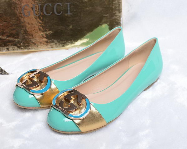 Gucci Patent Leather Flat GG0496 Green