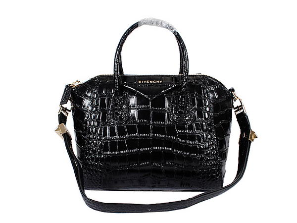 Givenchy Small Antigona Bag Croco Leather 9981S Black