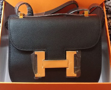 Hermes Constance Bag Litchi Leather H9999L Black