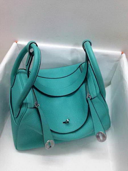 Hermes Lindy 30CM Original Leather Shoulder Bag HLD30 Green