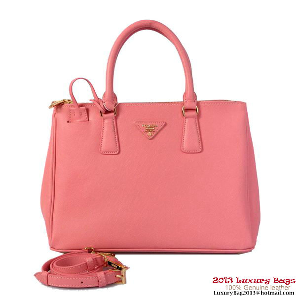 Prada Saffiano Calf Leather Tote Bag 2274 Pink