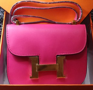 Hermes Constance Bag Smooth Leather H9999S Rose