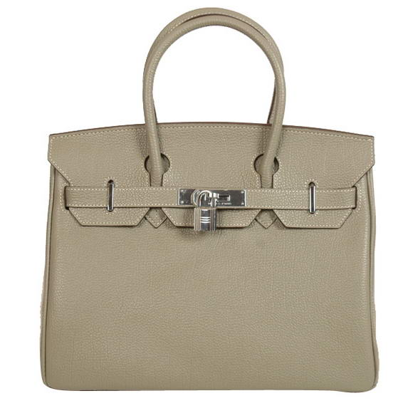 Hermes Birkin 30CM Tote Bags Smooth Togo Leather Khaki