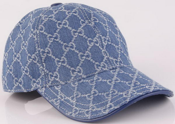 Gucci Peaked Cap GG41 Blue
