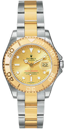 Rolex Yachtmaster Series Elegant Unisex Automatic 18kt Yellow Gold Unidirectional Rotating Wristwatch 168623-CSO