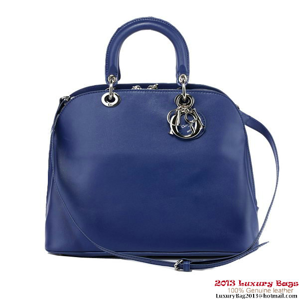 Dior Fall Winter 2012 Nappa Leather Tote Bag D0903 Blue