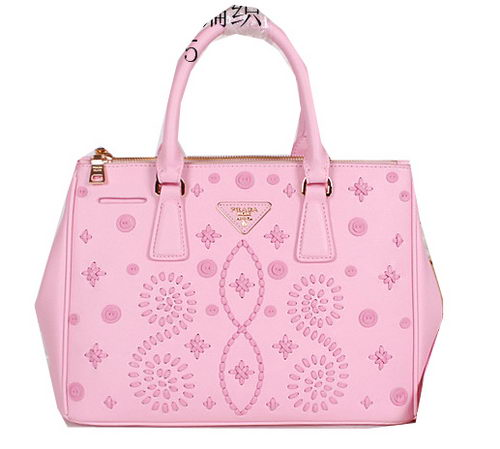 Prada Weave Leather Tote Bags B2274 Pink
