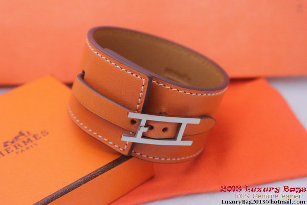 Hermes Genuine Leather Bracelet H1151_10