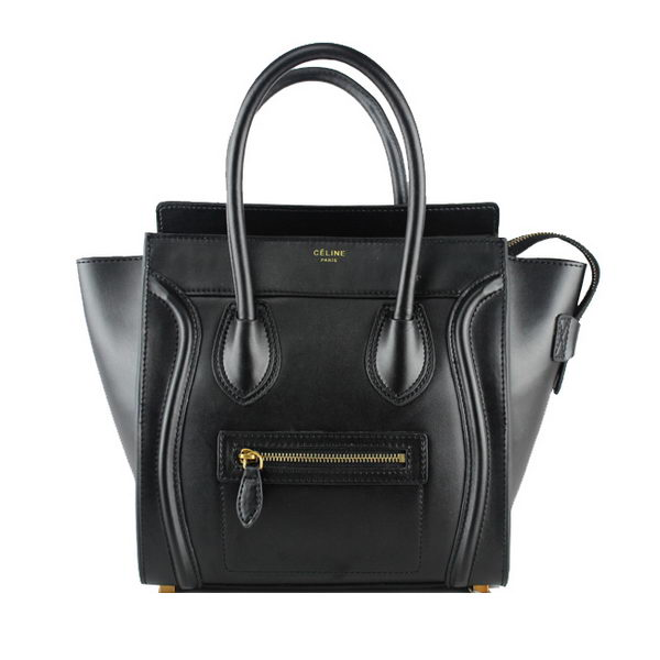 Celine Luggage Micro Tote Bag Original Ferrari Leather 88023 Black