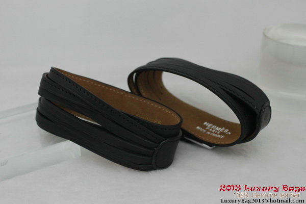 Hermes Genuine Leather Bracelet H1141_4