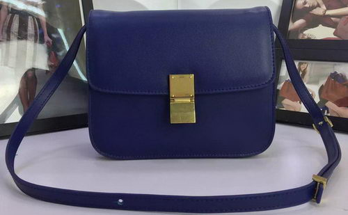 Celine Classic Box Flap Bag Calfskin Leather C88008 Royal