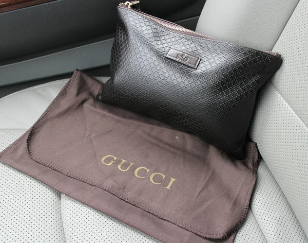 Gucci Diamante Leather Clutch G66234 Black