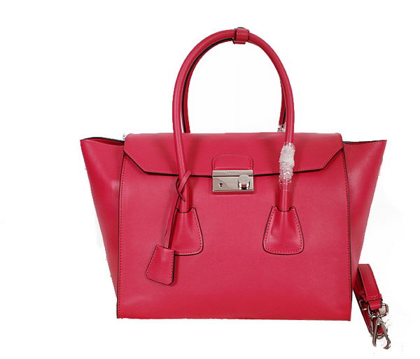 Prada Glace Calf Leather Flap Bag BN2661 Rose