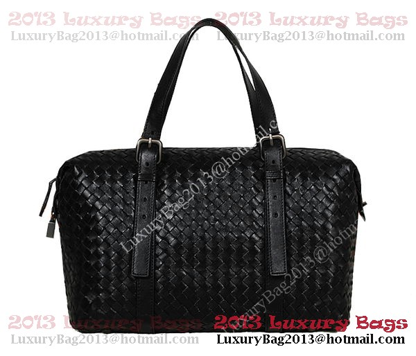 Bottega Veneta Krim Intrecciato Light Calf Bag 1048S Black