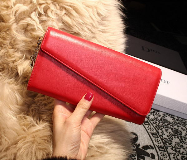 Dior Diorissimo rencontre Wallet Smooth Calfskin M2202 Red