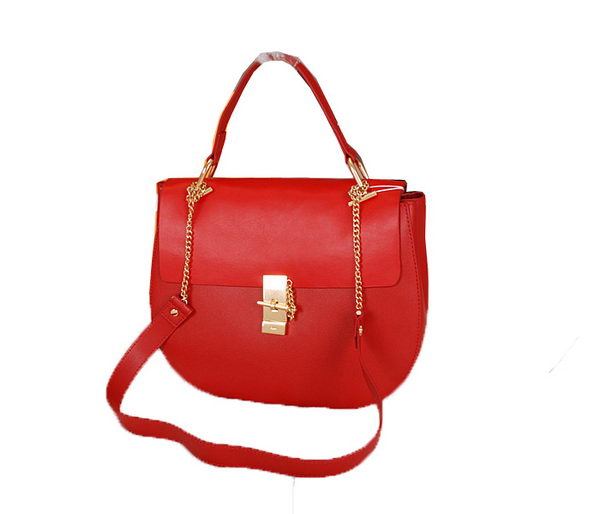 CHLOE Drew Calfskin Leather Shoulder Bag CLE0170L Red