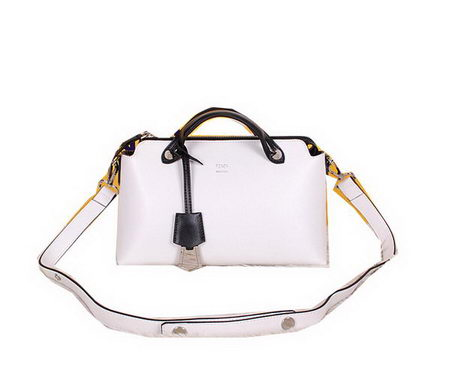 Fendi Fall Winter 2015 Tote Bag Calfskin Leather F2350 White