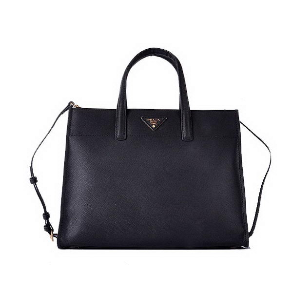 Prada Soft Saffiano Calf Leather Tote Bag BN2603 Black
