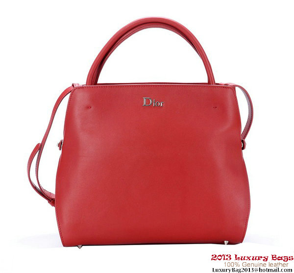Dior Fall Winter 2012 Smooth Calfskin Top Handle Bag Bordeaux