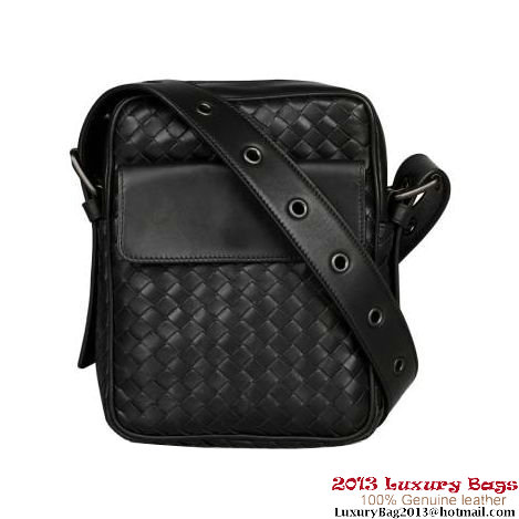 Bottega Veneta Nero Intrecciato VN Cross Body Bag B16050 Black