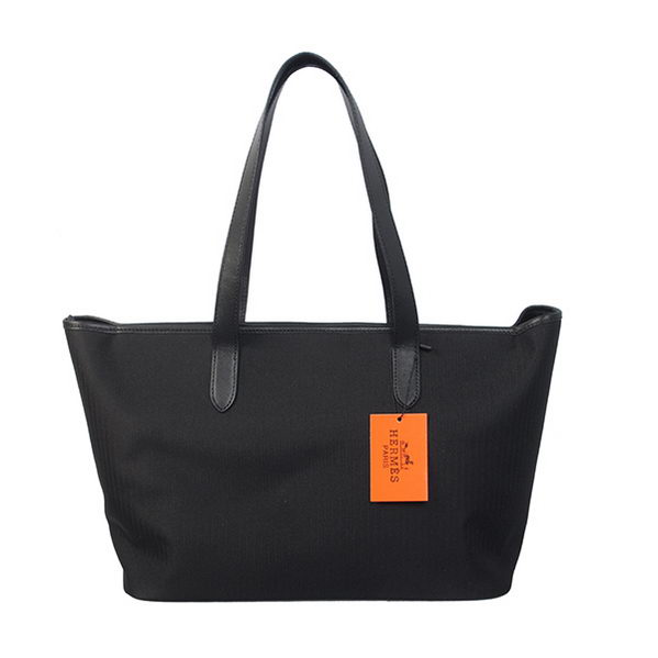 Hermes Shoulder Bag Canvas & Leather H1670 Black
