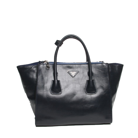 Prada Original Leather Tote Bag BN2679 Dark Blue
