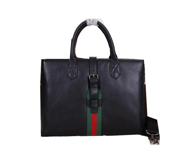 Gucci Original Leather Business Briefcase G2365 Black
