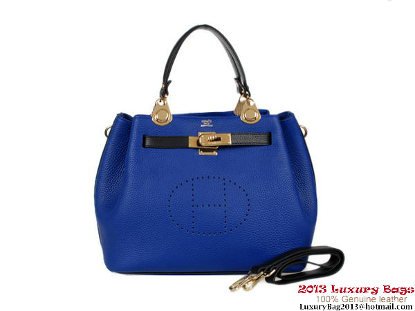 Hermes Mini So Kelly 30CM Bag RoyalBlue Clemence H1080 Gold