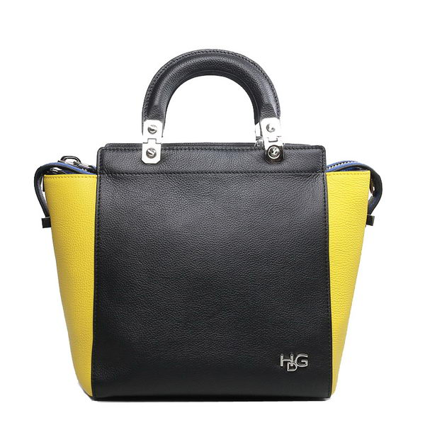 Givenchy HDG Bag in Original Calf Leather 9830 Black&Yellow