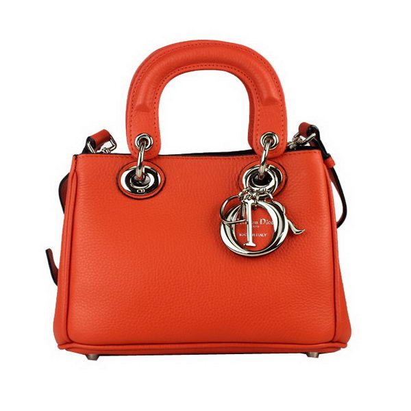 Dior mini Diorissimo Bag Original Leather 44375 Orange