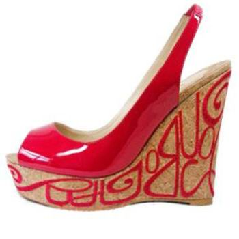 Christian Louboutin Marpop Red Patent Leather