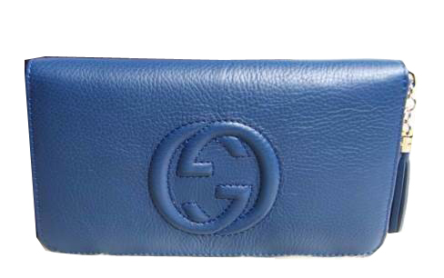 Gucci Interlocking G Zip Around Wallet 308004 Royal