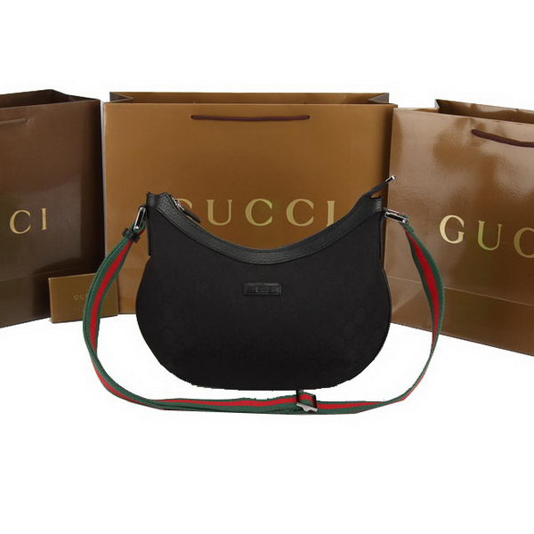 Gucci GG Plus Medium Messenger Bag 181092 Black