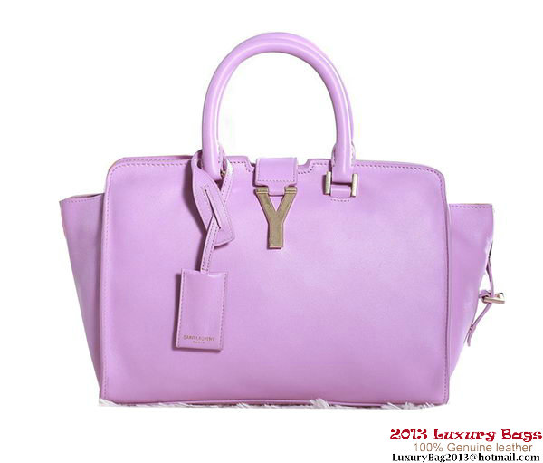 Yves Saint Laurent Small Cabas Chyc Bag Original Leather Y5086 Dark Purple