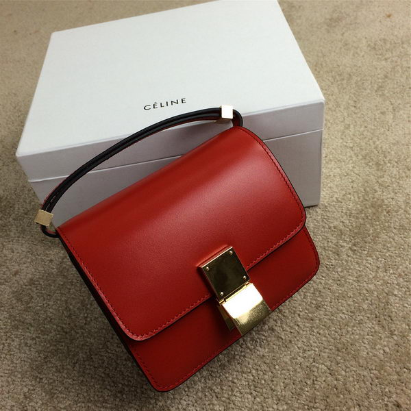 Celine Classic Box mini Flap Bag Smooth Leather C11041 Red