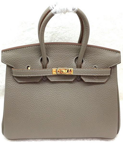 Hermes Birkin 25CM Tote Bag Original Leather H25T Grey