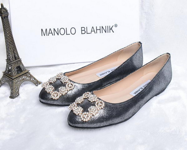 Manolo Blahnik Ballerina Satin Canvas MB088 Grey