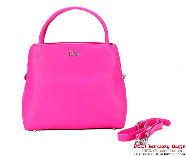 Dior Fall Winter 2012 Smooth Calfskin Top Handle Bag Rosy