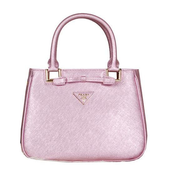 Prada Fluorescence Leather Tote Bag BN2245 Pink