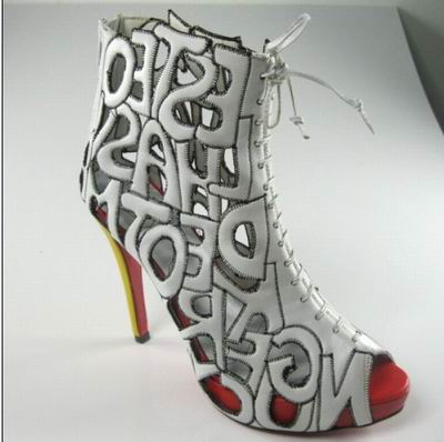 Christian Louboutin Let Me Tell You Ankle Boots in white