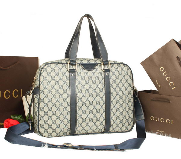 Gucci GG Supreme Canvas Briefcase 322071 Blue