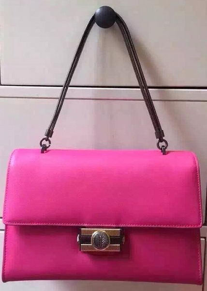 BVLGARI Flap Shoulder Bag Original Leather BG5978 Rose