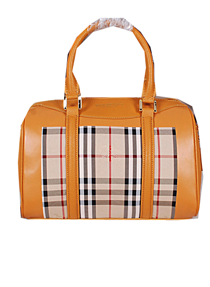 Burberry Medium Haymarket Check Bowling Bag BU3988 Wheat