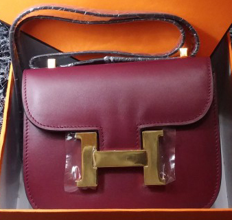 Hermes Constance Bag Smooth Leather H9999S Burgundy