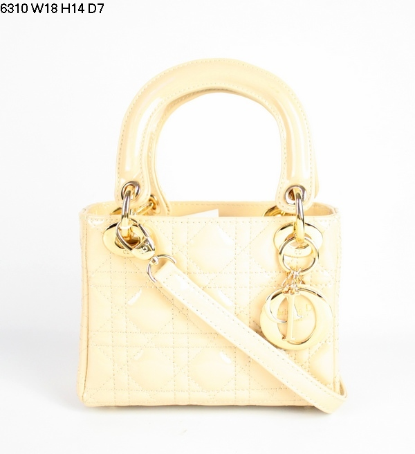 Christian Lady Dior Wheat Patent Leather Bag 6310 Gold